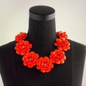 JCrew beaded rose necklace